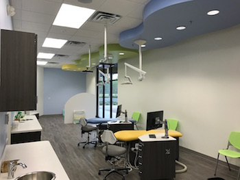 The Bright Smiles Pediatric Dentistry treatment rooms